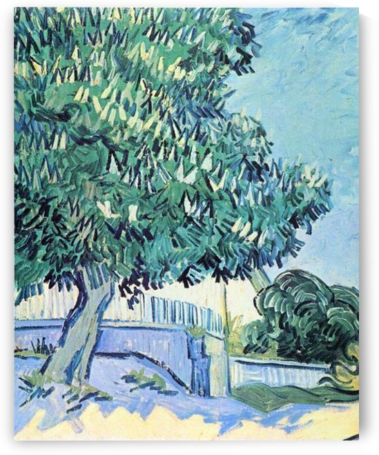 Blossoming chestnut tree -2- by Van Gogh by Van Gogh