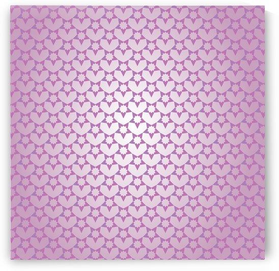 Decorative Pink Color Pattern Art by Rizwana Khan