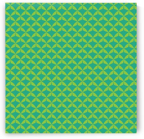 Green Leaf Pattern Artwork by rizu_designs