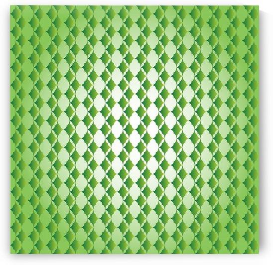 Islamic Art Green Color Artwork by Rizwana Khan