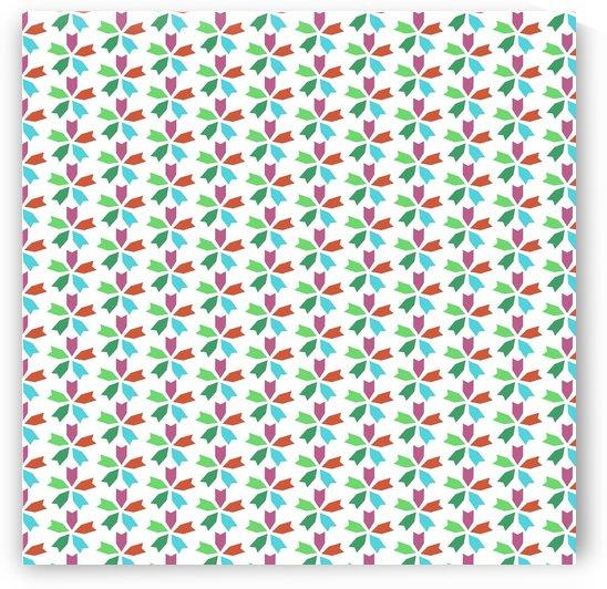 Flower Seamless Pattern Artwork by Rizwana Khan