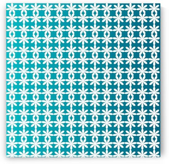 Floral Gradient Seamless Pattern Artwork by Rizwana Khan
