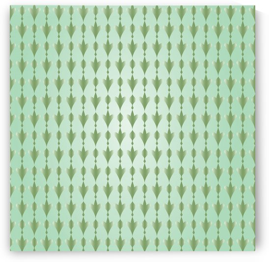 Islamic Art  Green Pattern Artwork by rizu_designs