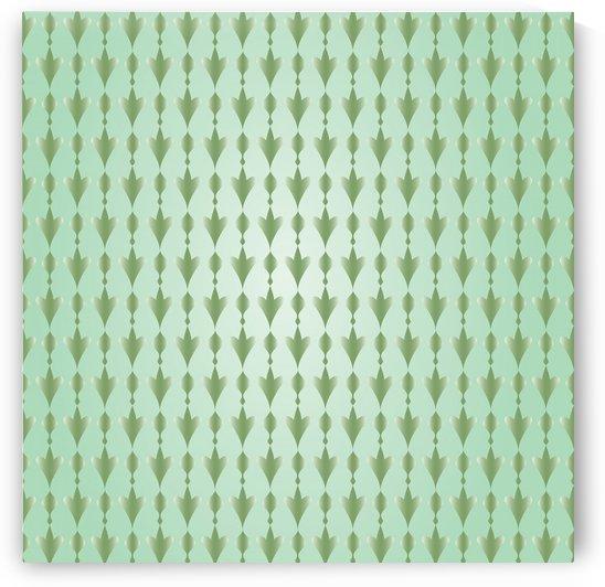 Islamic Art  Green Pattern Artwork by Rizwana Khan