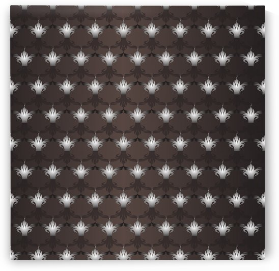 Islamic  Black & Brown Pattern Art by rizu_designs