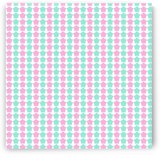 Pink _ Blue Star Seamless Pattern Artwork by Rizwana Khan