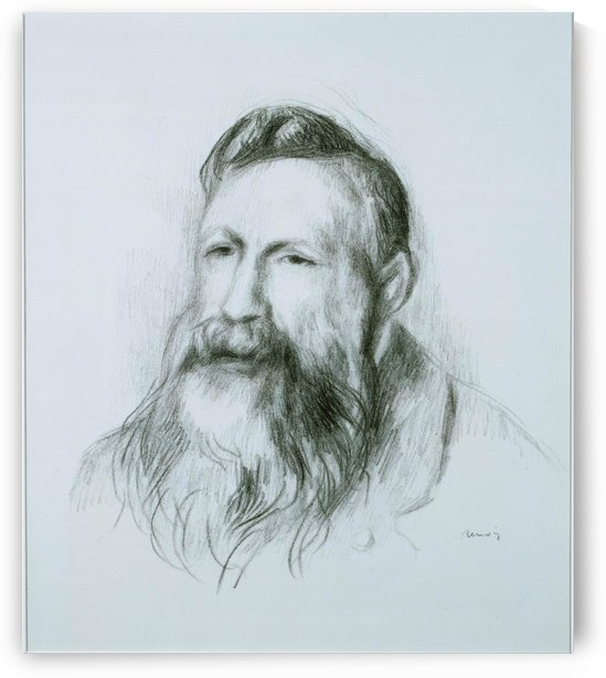 Portrait of Rodin by Pierre Auguste Renoir