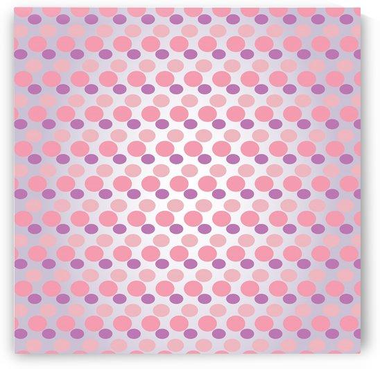 Pink Dots Seamless Pattern Art by Rizwana Khan