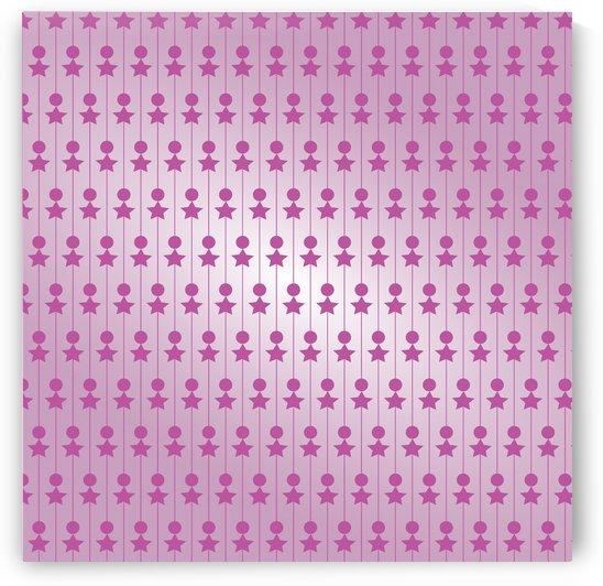 Pink Art Pattern Artwork by Rizwana Khan