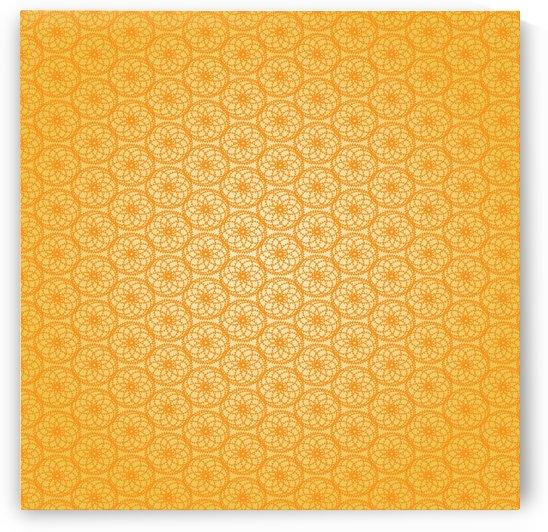 Orange Seamless Pattern Art by Rizwana Khan