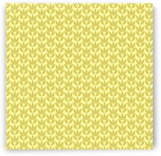 Yellow Color Flower Seamless Pattern Artwork by Rizwana Khan