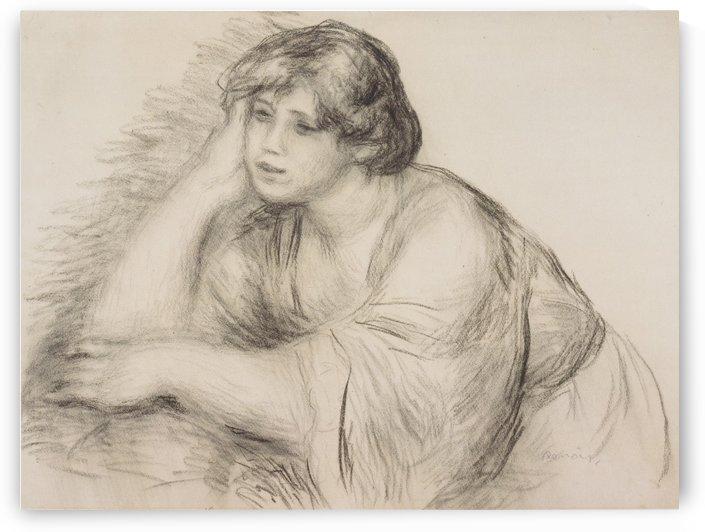 Sitzendes Madchen by Pierre Auguste Renoir