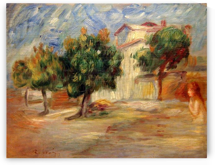 Desnudo en un paisaje by Pierre Auguste Renoir