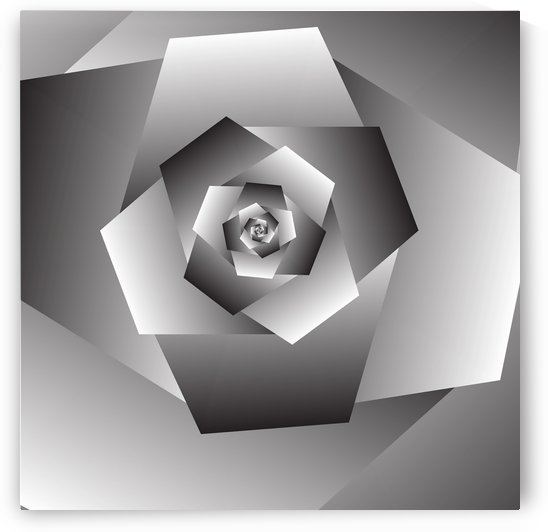 Monochrome Rose Art by rizu_designs