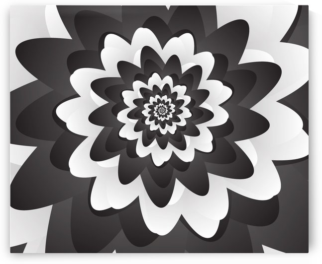 Mono Chrome Floral Art by rizu_designs