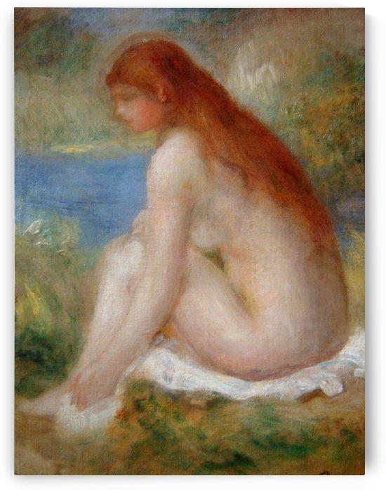 Mujer desnuda sentada by Pierre Auguste Renoir