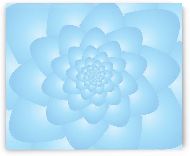 Pastel Blue Art by Rizwana Khan