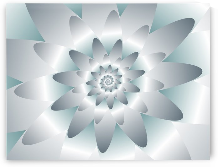 Swirl Flower Pattern Art by rizu_designs