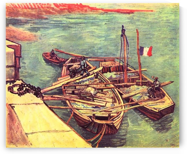 Boats with sand by Van Gogh by Van Gogh