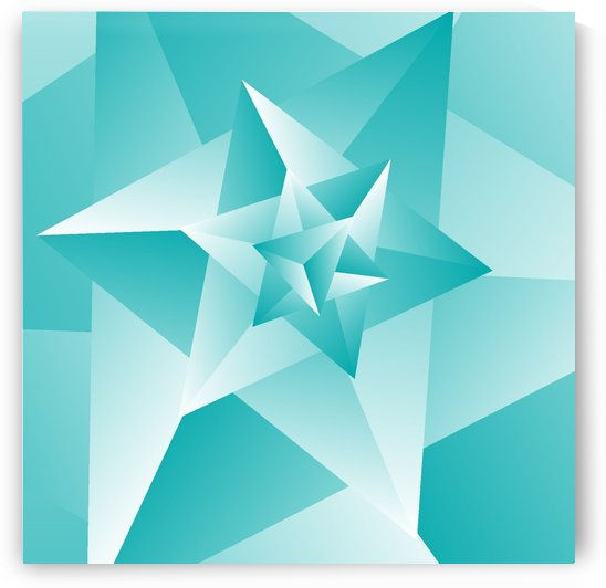 Bluish Trendy Triangle Art by rizu_designs
