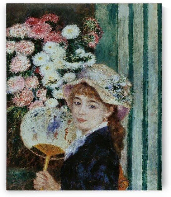 Jeune Fille avec un eventail by Pierre Auguste Renoir