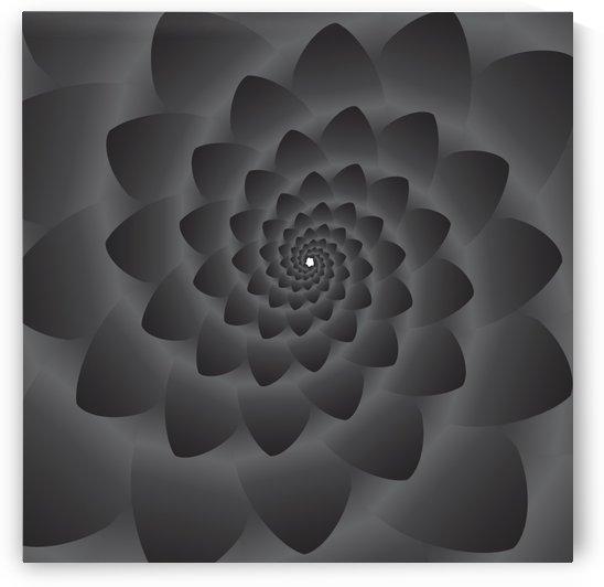 3D Modern Black Floral Art by rizu_designs