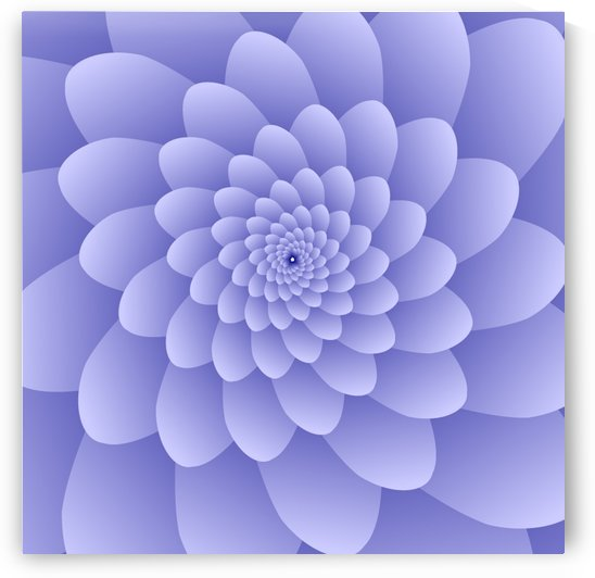 3D Modern Purple  Floral Art by rizu_designs