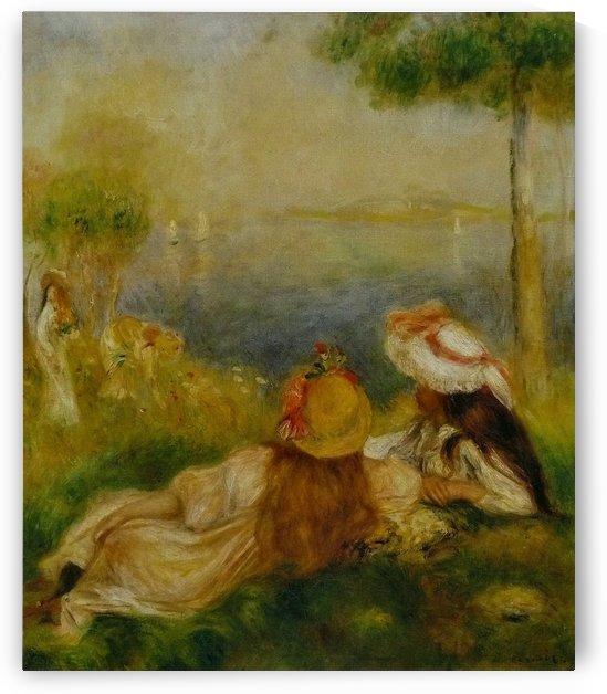 Jeunes Filles au bord de la mer by Pierre Auguste Renoir