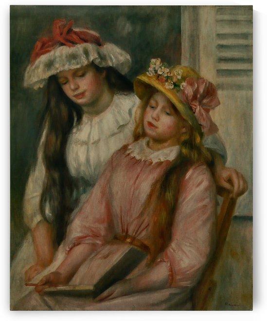 Jeunes Filles regardant un album by Pierre Auguste Renoir
