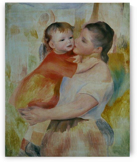 Lavandiere a l enfant by Pierre Auguste Renoir