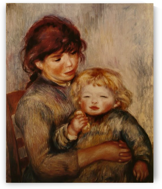 L Enfant au biscuit by Pierre Auguste Renoir