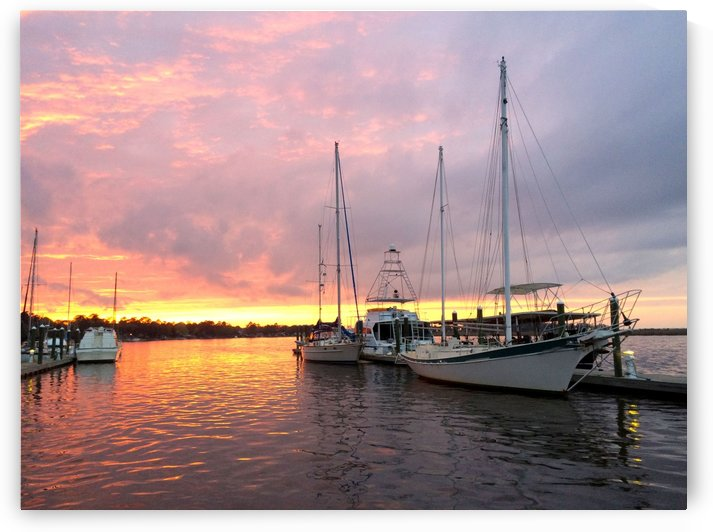 Sunset Sailboat 2 by Chanelle Sheets
