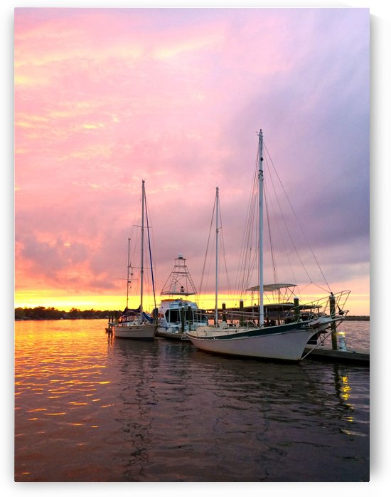Sunset Sailboat by Chanelle Sheets