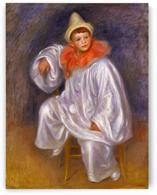 Le Pierrot Blanc by Pierre Auguste Renoir