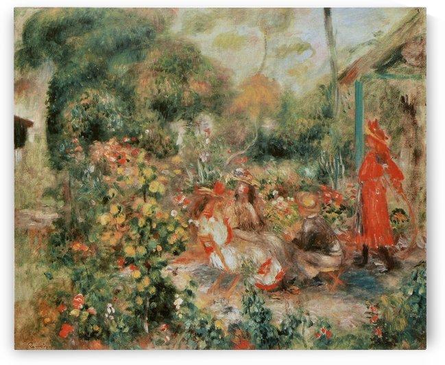 Jeunes Filles dans un jardin by Pierre Auguste Renoir