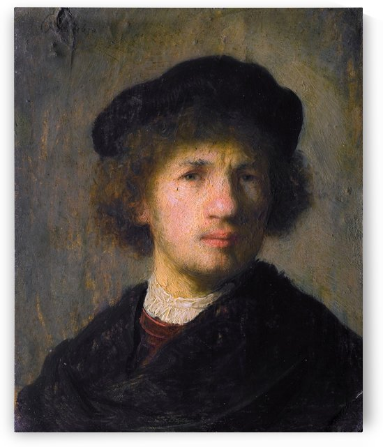 Self-portrait oil by Rembrandt