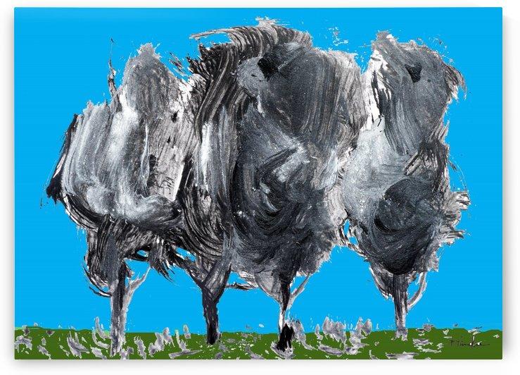 Four Trees by Pracha Yindee