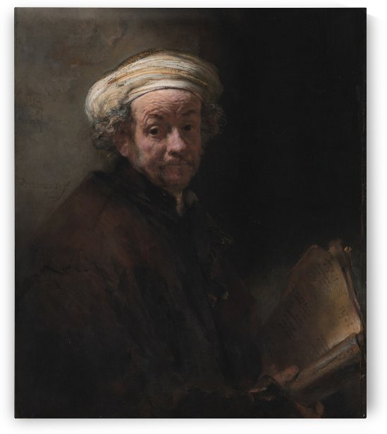 Self-portrait as the apostle Paul by Rembrandt