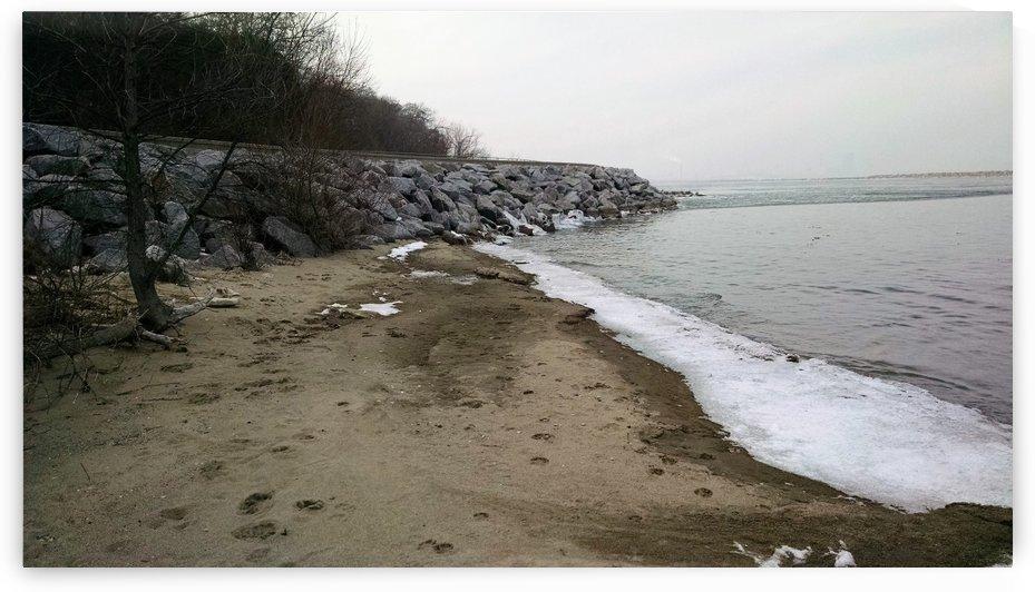 beach rockwall by Wendy A Rohn