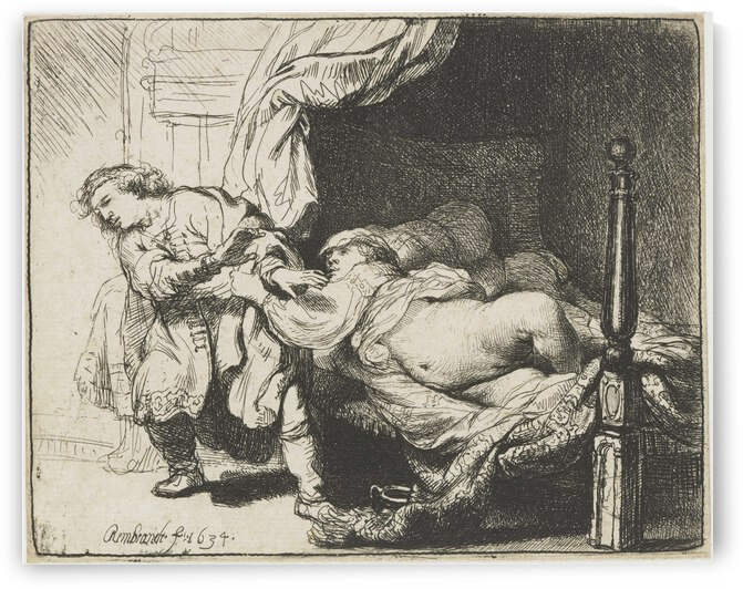 Joseph and Potiphars wife by Rembrandt