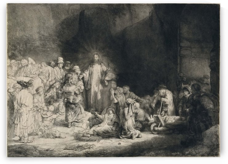 Christ Preaching by Rembrandt