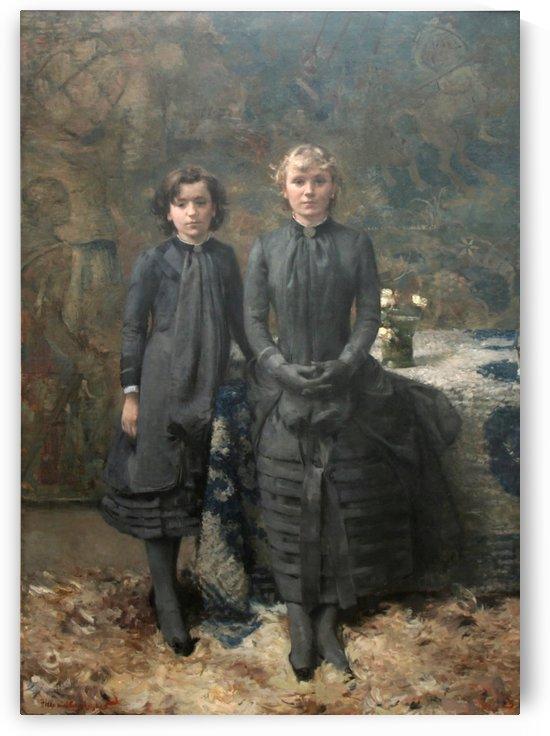 Les Soeurs du peintre Schlobach by Theo van Rysselberghe