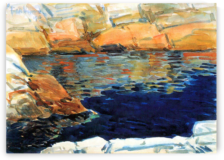 Beryl look at the pond by Hassam by Hassam