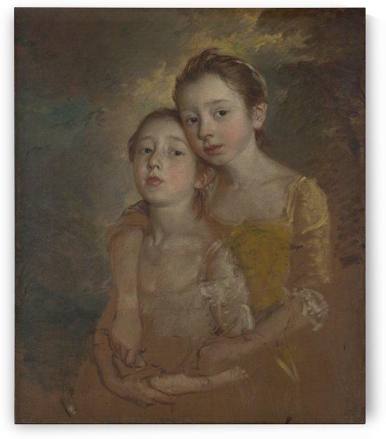 The Painters Daughters with a Cat by Thomas Gainsborough