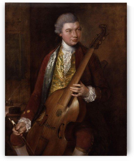 Karl Friedrich Abel by Thomas Gainsborough by Thomas Gainsborough