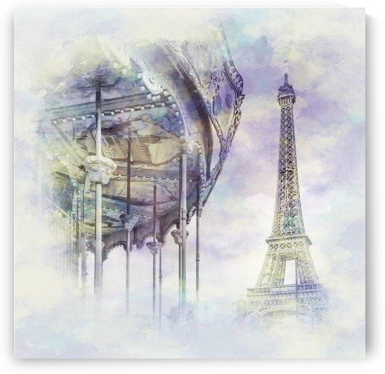 Typical Paris   watercolor by Melanie Viola