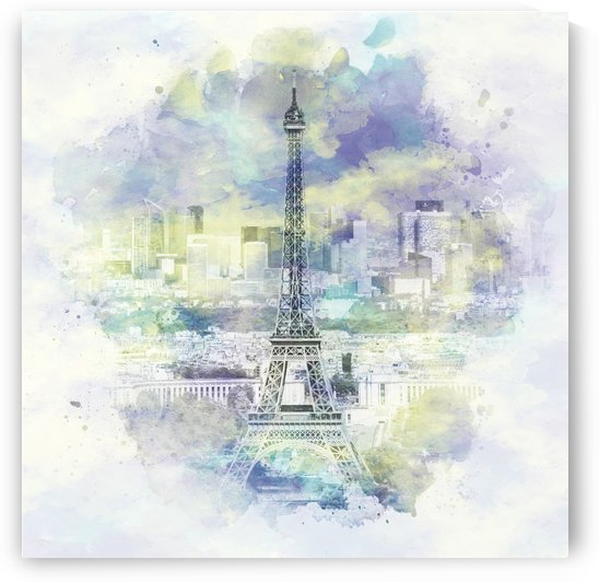 Paris Skyline | watercolor by Melanie Viola