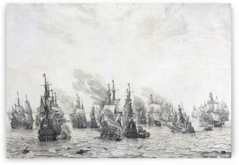 Battle of Leghorn by Willem van de Velde I