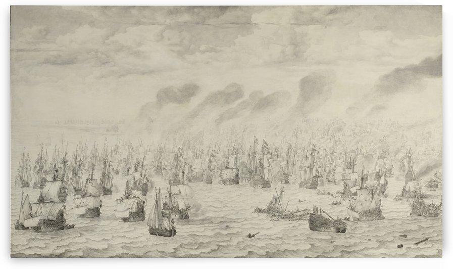 The Battle of Schevening by Willem van de Velde I
