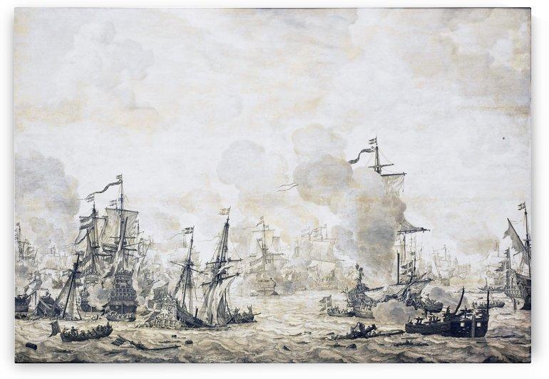 Battle of the Sound by Willem van de Velde I